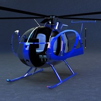 3ds max hughes 500d helicopters