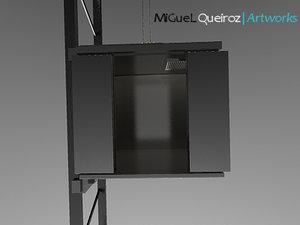 lift cabine 3d max