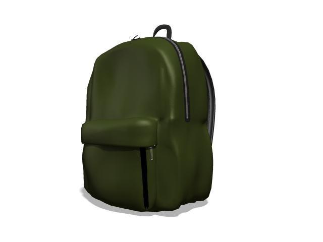 3d bags knapsack accessories model