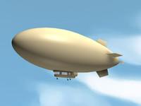 free blimp 3d model