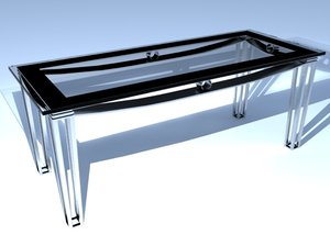 3ds max modern table glass