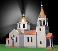 size church 3d max