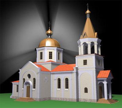 size church 3d max