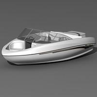 3d sugar sand mirage motorboat model