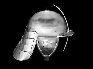 zishagge helm german armor 3d model