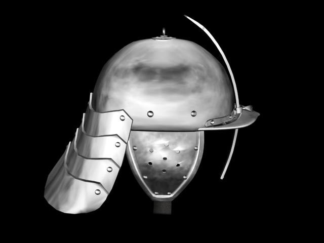 zishagge helm german armor 3d model