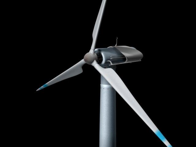 3d model electric windmill turbine