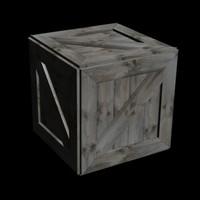 3d model crate