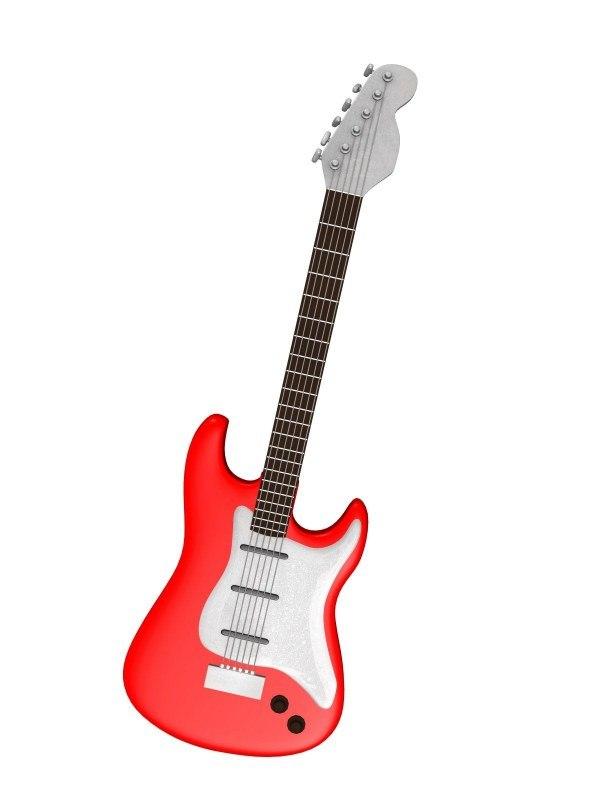 electric guitar obj