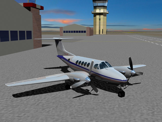 raytheon beechcraft king air 3d model