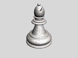 3d chess bishop model