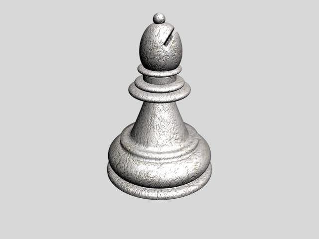 3d chess bishop model