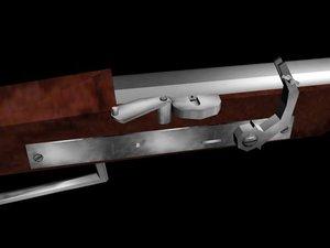 matchlock musket animation lock 3d model
