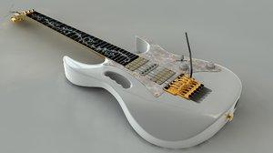 ibanez jem guitar zipped 3d model