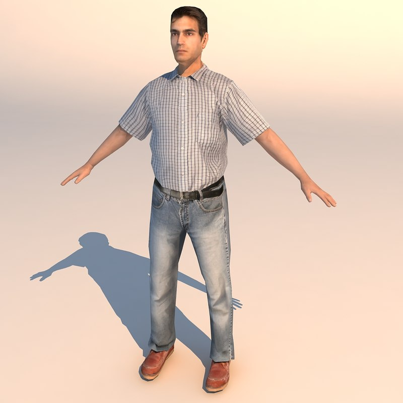3ds max character casual 13