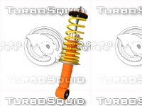 car shock absorber c4d