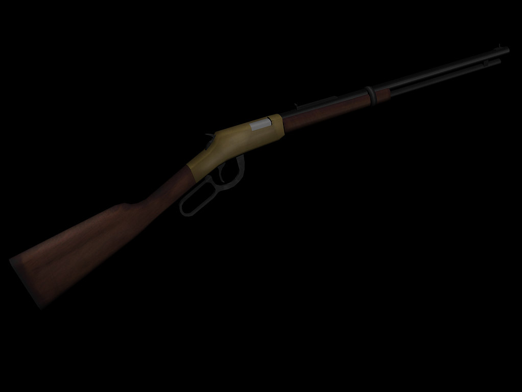 lever action rifle 3d max