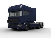 truck scania longline 3d model