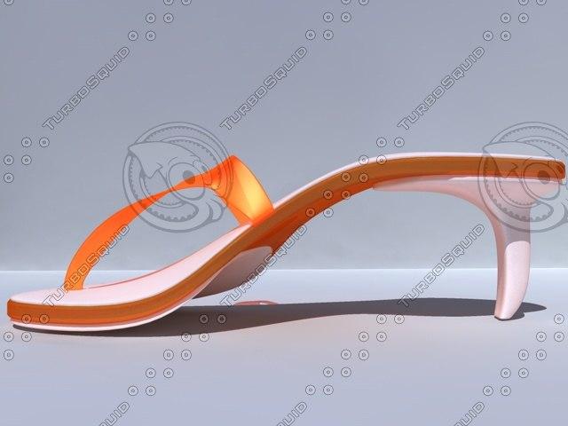 3d model of summershoes shoe