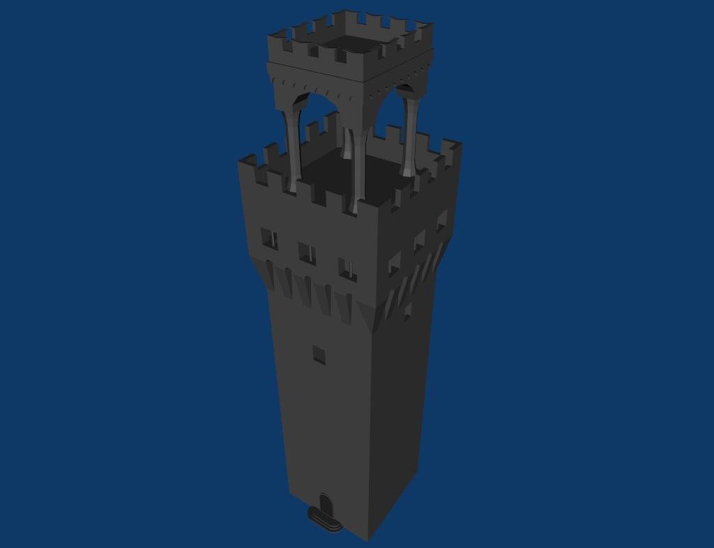 tower ancient 3d blend