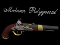 belgian military flintlock pistol 3d model
