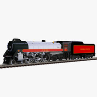 3d hudson locomotive train model