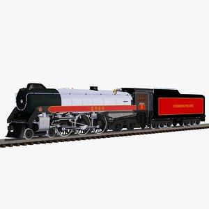 3d hudson locomotive train model