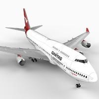 B Seven 47-400 Airliner (Qantas)