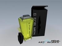 3d model perfum glass bottle
