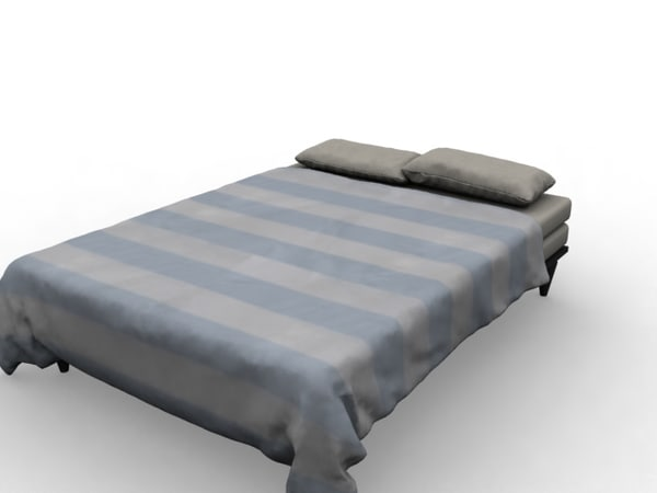 bed pillow blanket 3d max