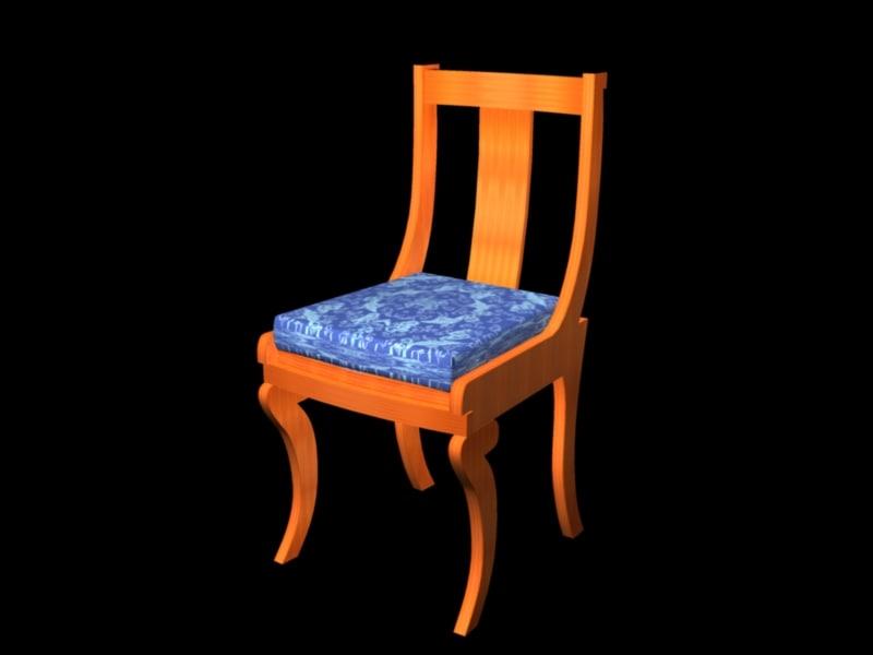 3d model biedermeier chair