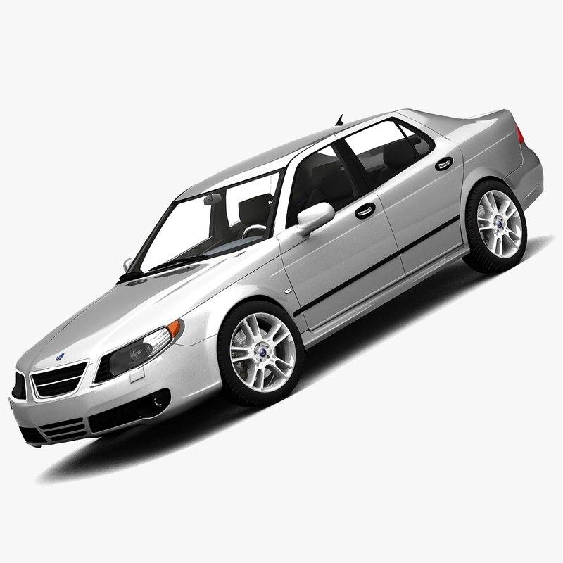 saab 9-5 2006 sedan 3d model