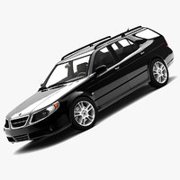 3d saab 9-5 2006 sportcombi model