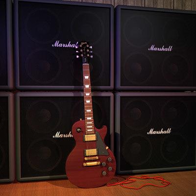 3d model gibson electric guitar
