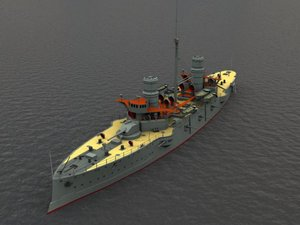 battleship war 3d max