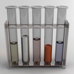 test tube 3d max