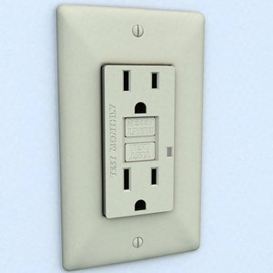 3ds gfci electrical outlet receptacle