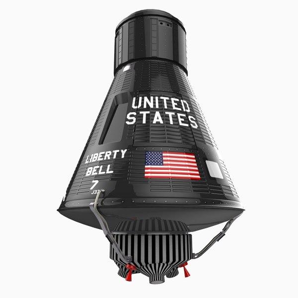 nasa mercury 4 capsule 3d model