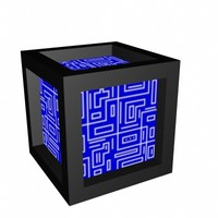 3d model of cube crate box