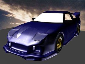 3d model nissan-silvia-s13-180sx-veilside-1989