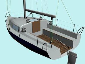 3d model sailing boat yacht