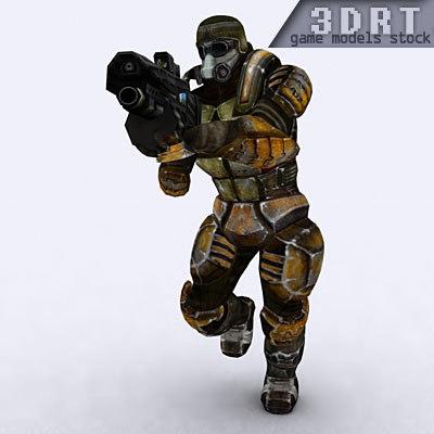 sci-fi trooper male 3d model
