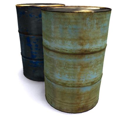 3dsmax 55 gallon barrels