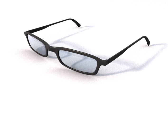 3d model cool glasses