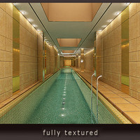 3 swimming pools variants 3d model