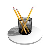 pen penholder holder 3d model