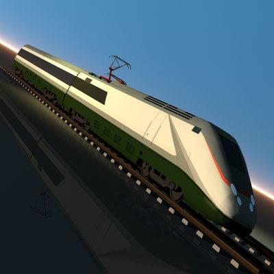 train etr500 3d model