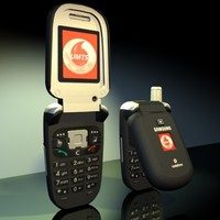 3d model of samsung mobile phone zv10