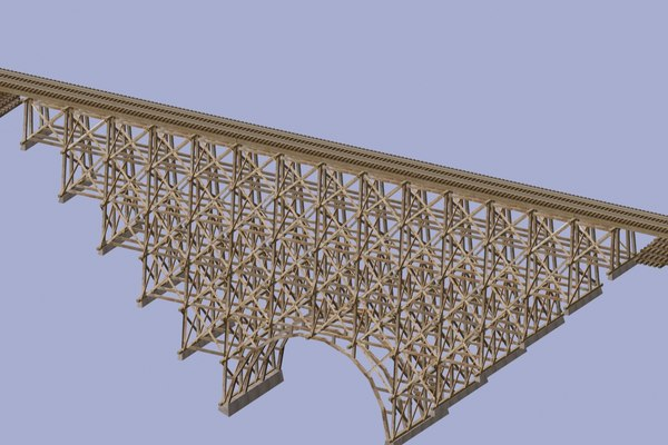 3d model railway trestle bridge