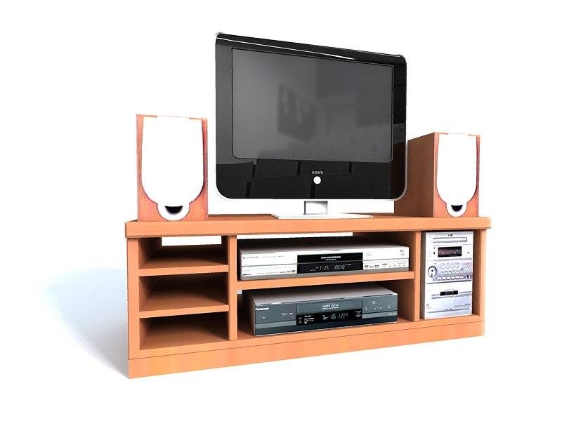 home tv dvd player 3d model